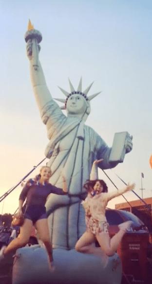 Me & Bekki with a fake Lady Liberty