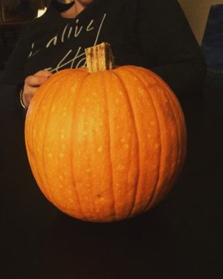 An aesthetically pleasing pumpkin