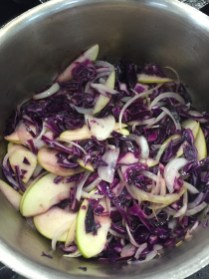Braised Red Cabbage with Apple & Onion