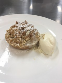 My Mini Apple Crumble tart
