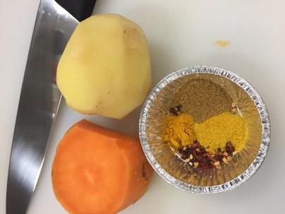 Sweet Potato, Desiree Potato & spices