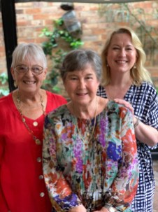 With Mum and much loved cousin June