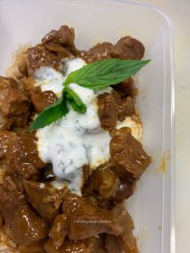 GoatCurry with Minted Yoghurt