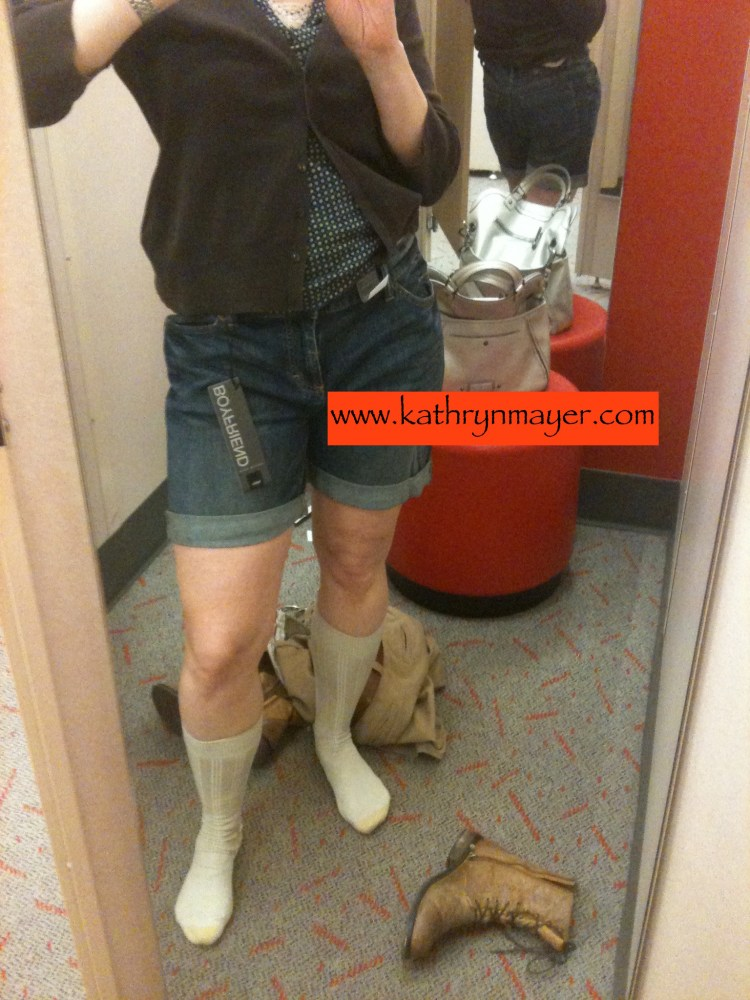 Midlife mom tries on shorts and it does not go well.