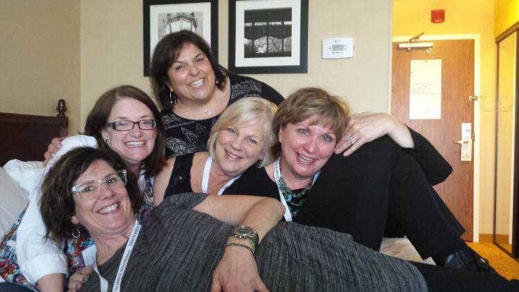 Making friends at writers workshop