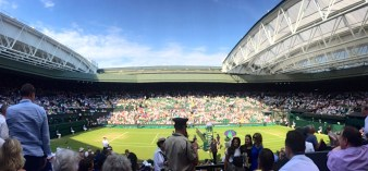 What an exhilarating experience to be at Wimbledon!