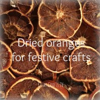 Easy homemade festive crafts - dried oranges