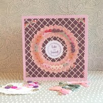 Dovecraft Painted Blooms circles Life is Sweet