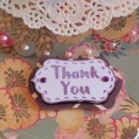 Dovecraft Painted Blooms Thank You