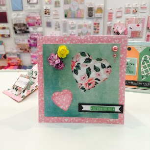 Brand new Trimcraft First Edition Sweet Nothing papers make a beautiful feminine card