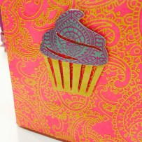 First Edition Storyteller paper gift bag and Dovecraft cake die