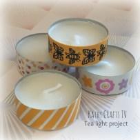 Tea light gift box project