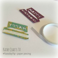 #TuesdayTip - Paper piecing