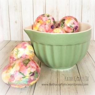 Deco Mache Easter Eggs