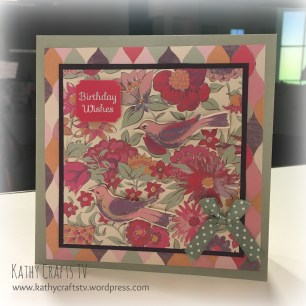 A Create & Craft TV demo using the Dovecraft Premium Painted Blooms collection