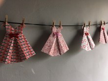 Bunting made from Origami dresses