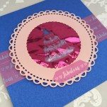 Card made using the Dovecraft wedding cake die