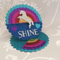 Card made using the Dovecraft unicorn die