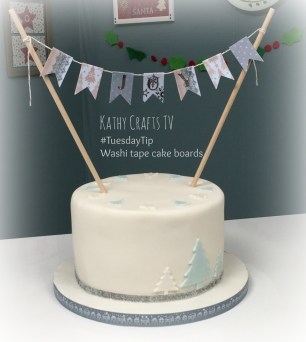 TuesdayTip Washi for a cake board trim5