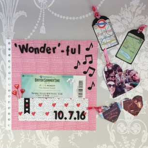 Wonderful Dovecraft Kiss and Makeup scrapbook layout 2