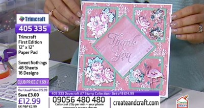 Create & Craft First Edition Papers and Dovecraft stamps live demo3