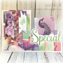 Stepper card made with First Edition Wild Flower papers