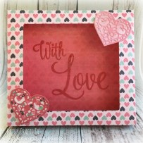 With Love paper frame