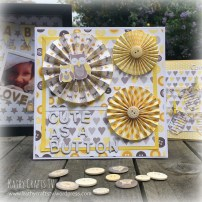 Baby Steps owl and pinwheels