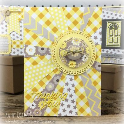 Baby Steps sunburst card