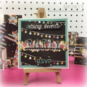 Chalk to Me Party card handmade
