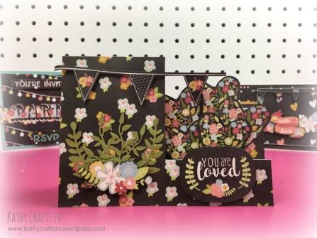 Floral easel card