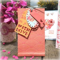 Gift bag made with the First Edition Floral Fusion paper pad