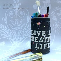Live a Creative Life upcycled pen pot