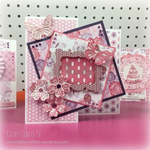 Perfectly Pink Front Fold frame card