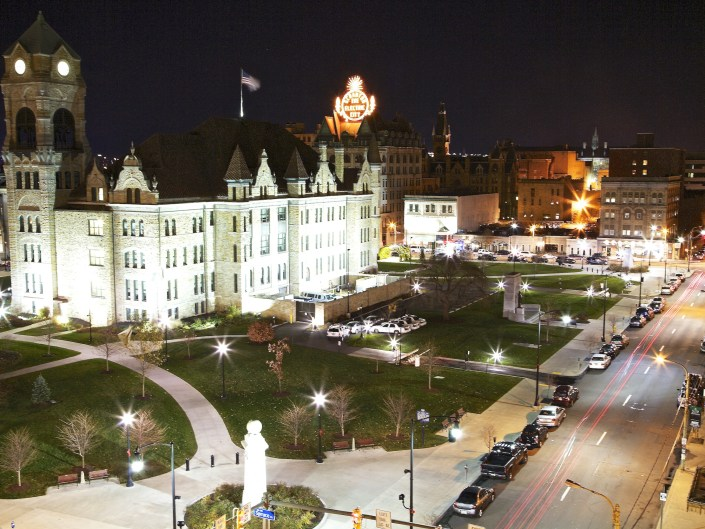 Courthouse Square, Scranton, PA., Electric City, Electric City Sign