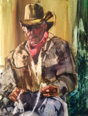 """""""Completely Roped Off"""" Watercolor on Yupo, 20x26"""" $495.00"""