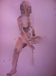 """Figure Study"" Watercolor 11x15 $125"