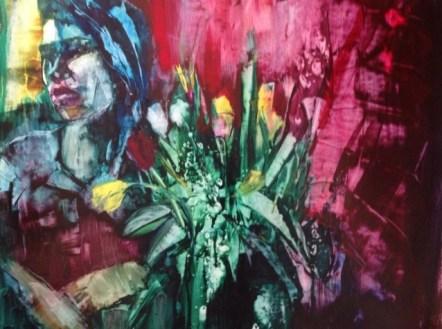 """Consolation Prize"" Watercolor on Yupo, 20x26"" $595.00"