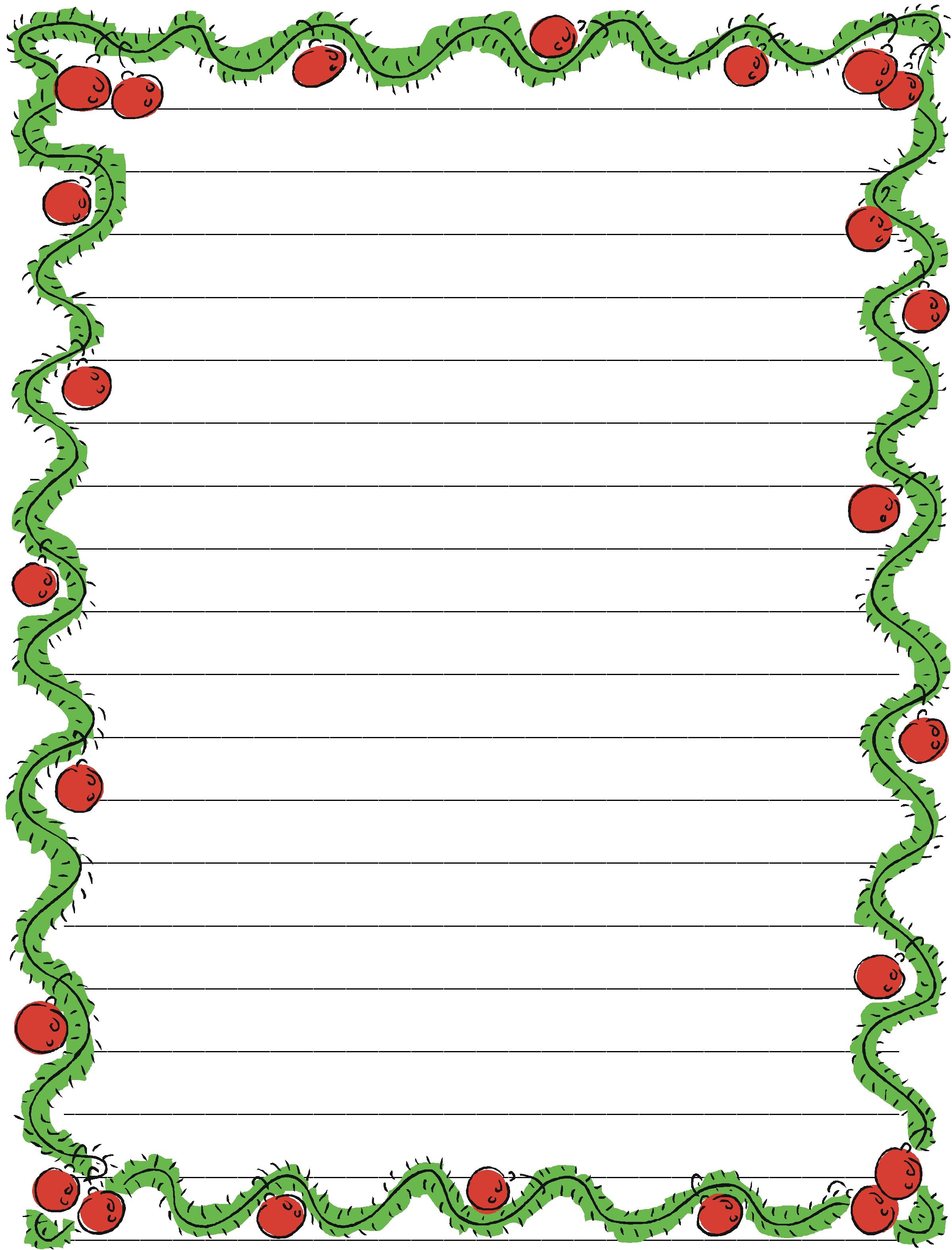Christmas Copywork Free Download