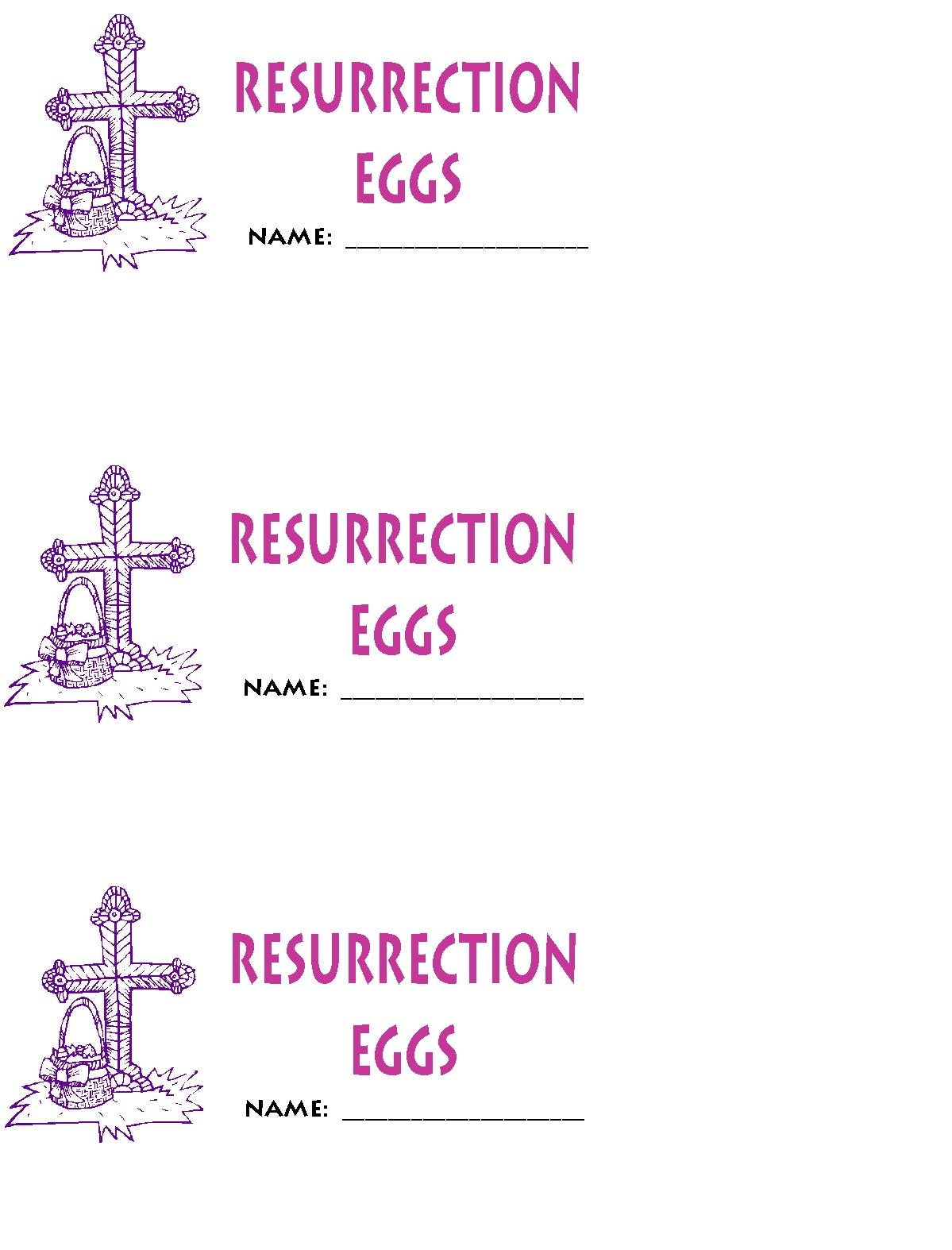 Homemade Resurrection Eggs Free Printables Kathy Hutto