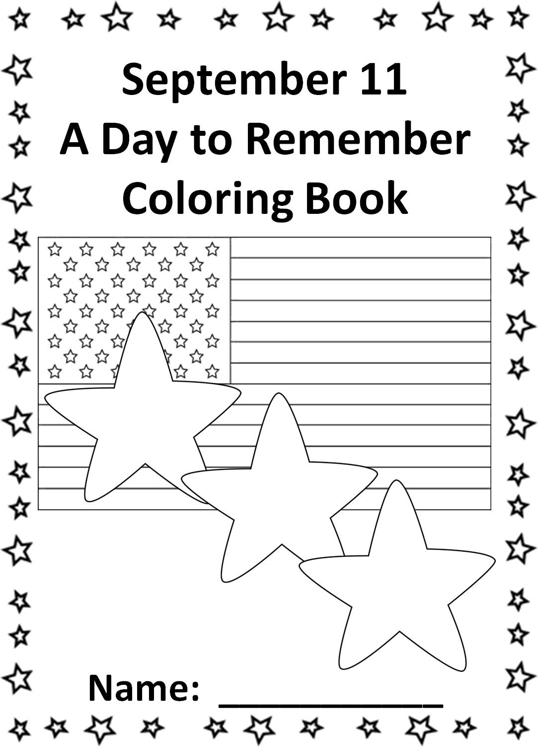 September 11 Power Point Book And Coloring And Activity