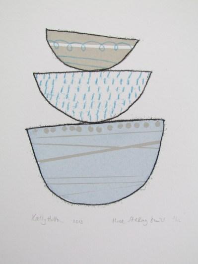 Three stacking bowls