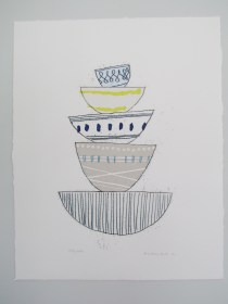 Five stacking bowls