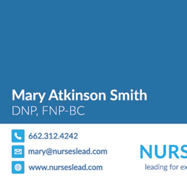 Nurses Lead Business Cards