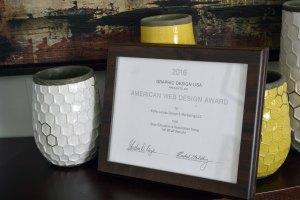 Kathy Jacobs Design & Marketing Receives a 2016 American Web Design Award
