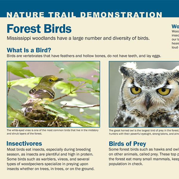 Nature Trail Demonstration Signs