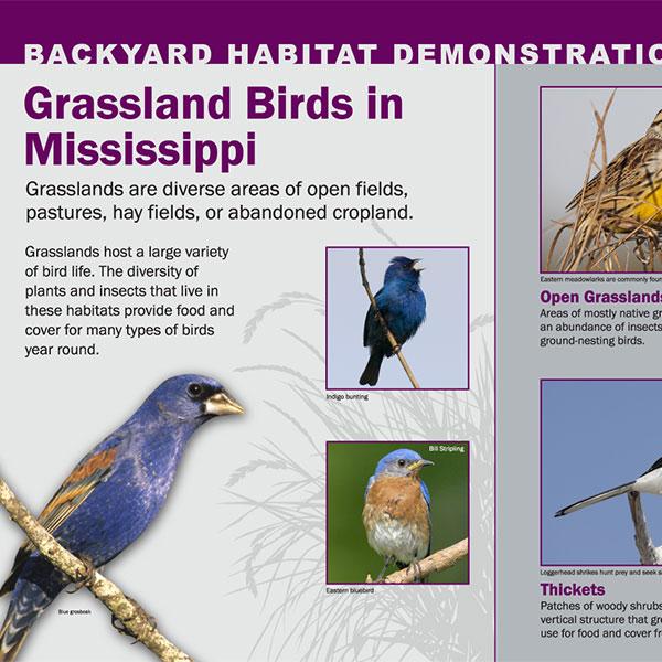 Backyard Habitat Demonstration Signs