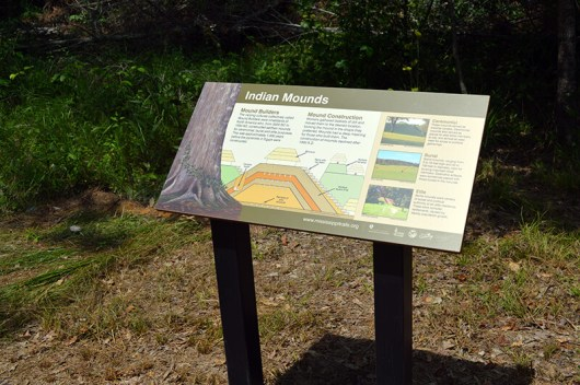 Sign about Indian Mounds