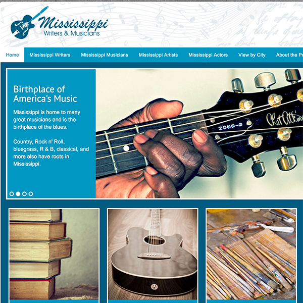 Mississippi Writers and Musicians Website