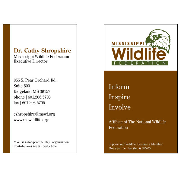 Business Cards for the Mississippi Wildlife Federation